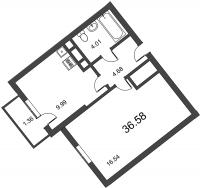 Однокомнатные квартиры в «Босфор»